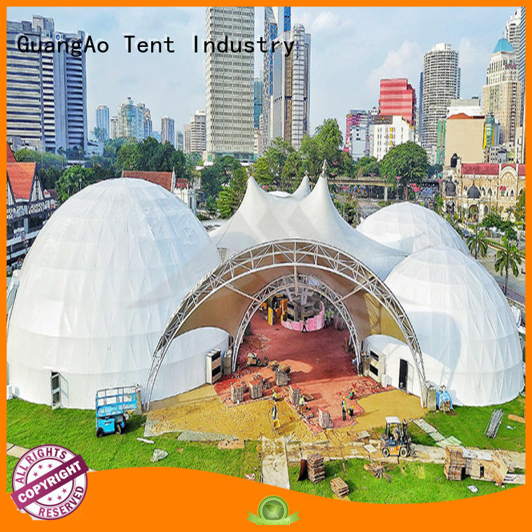 GuangAo geodesic geo dome tent semi-circle for hotel