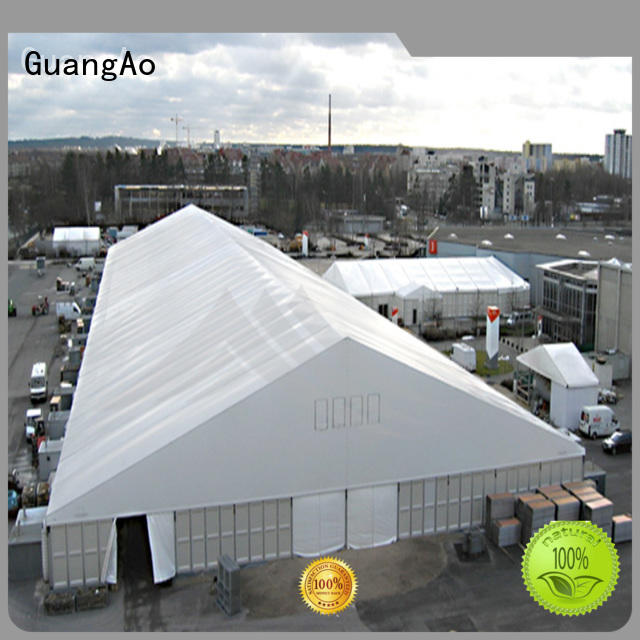 GuangAo factory price the warehouse tents wind resistant Outdoor Storage