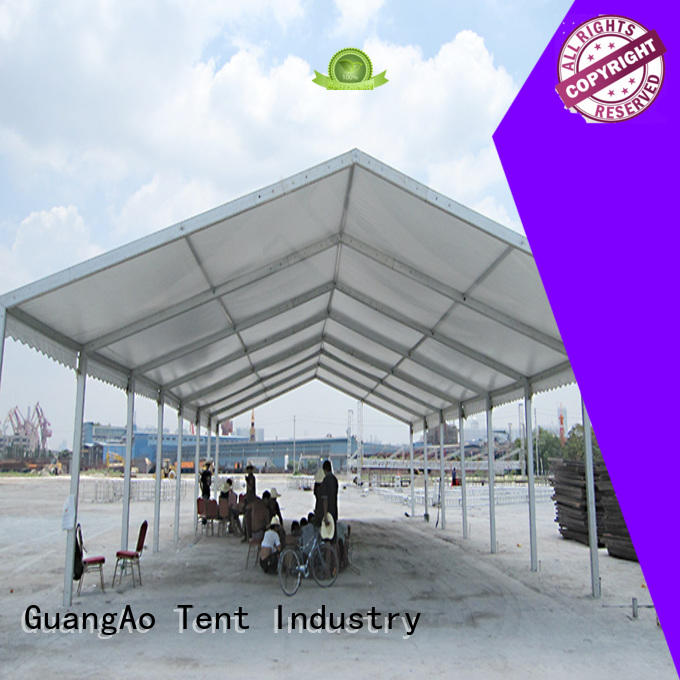 GuangAo fireproof warehouse tents wind resistant event
