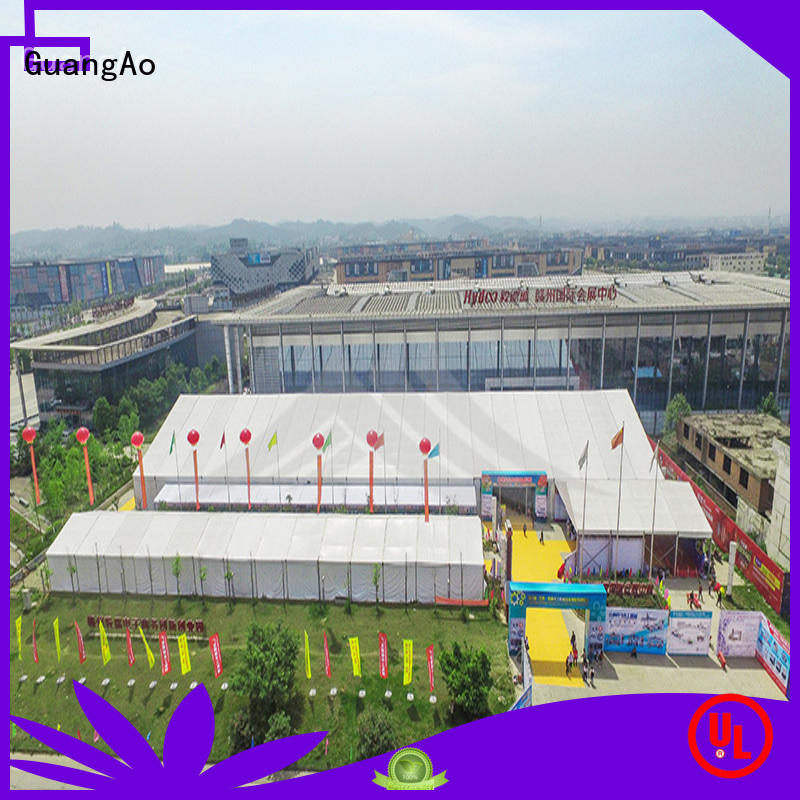 GuangAo big capacity tent display curve shape for outdoor