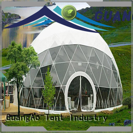 GuangAo canopy large dome tent manufacturer for outdoor dome