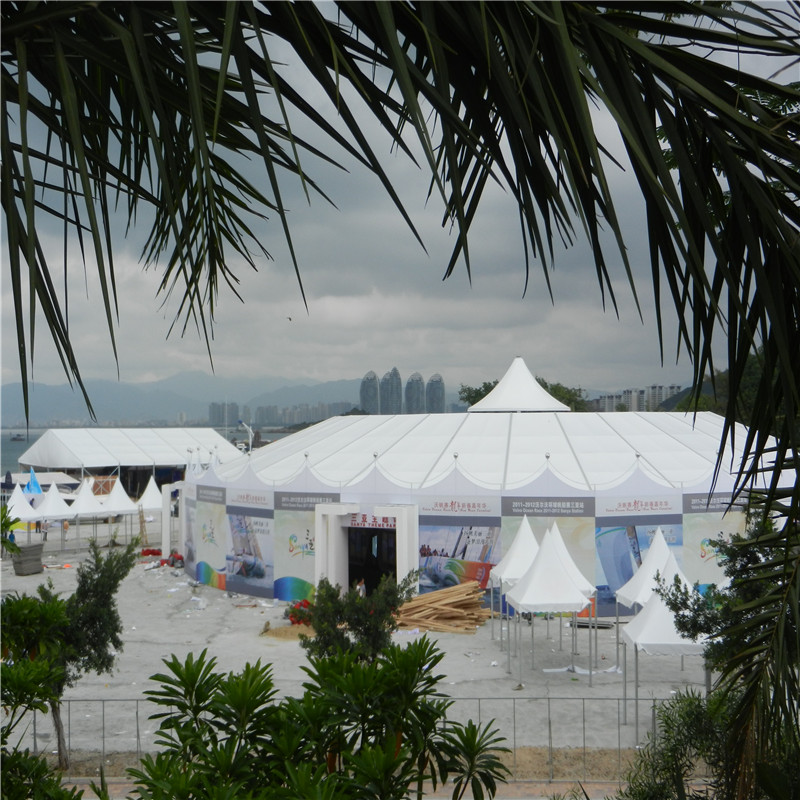 GuangAo-Mixed Peak Tent For Sailing Boat Exhibition Event - Guangao Tent Industry