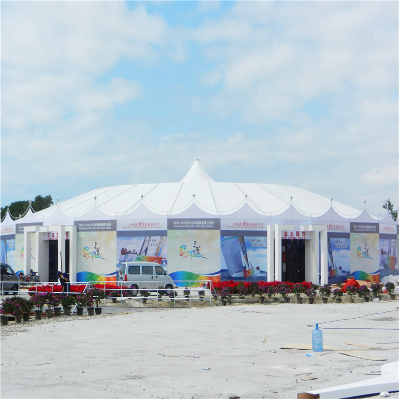 GuangAo-Mixed Peak Tent For Sailing Boat Exhibition Event - Guangao Tent Industry-2