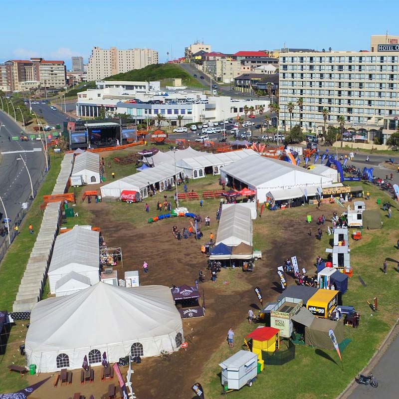GuangAo-News About Large Outdoor Party Tent Project In South Africa