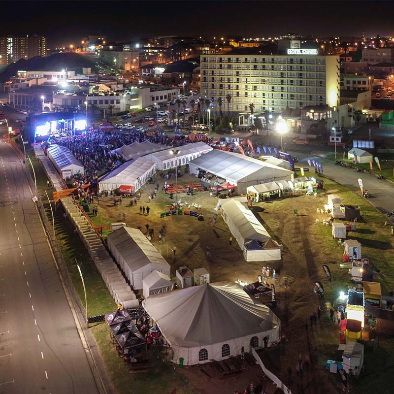 GuangAo-News About Large Outdoor Party Tent Project In South Africa-1