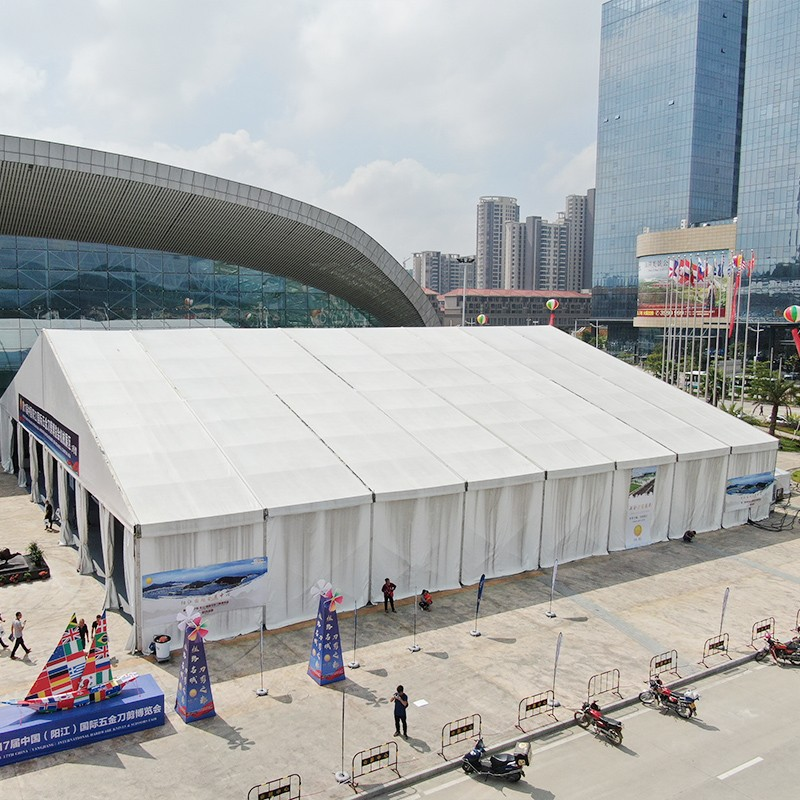 GuangAo-Yangjiang Hardware Expo Tent Project News About Transparent Tent-2