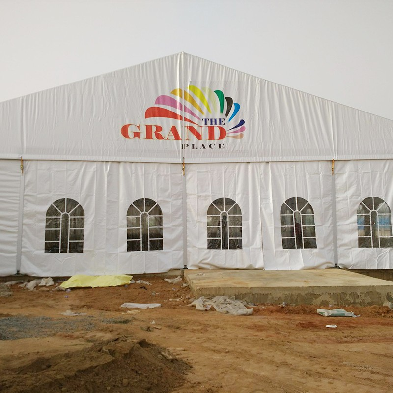 GuangAo-Nigerian Cases Of Tent Building | Double Decker Tent